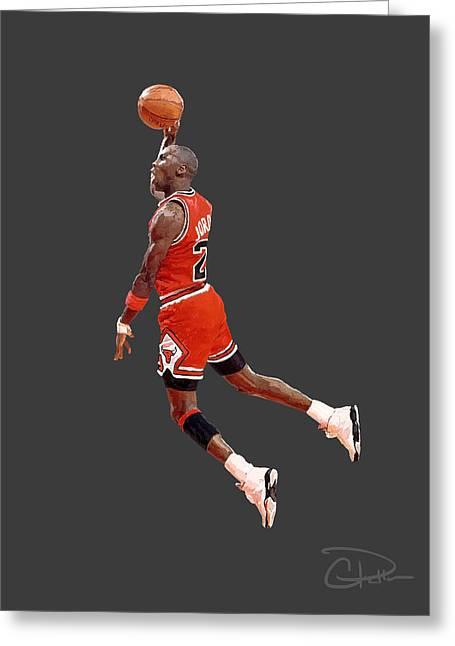 Nike Air Jordan Greeting Cards - Jordan Greeting Card by Charley Pallos