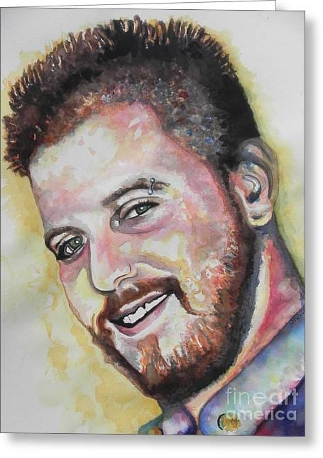 Jordan Paintings Greeting Cards - Jordan Greeting Card by Chrisann Ellis