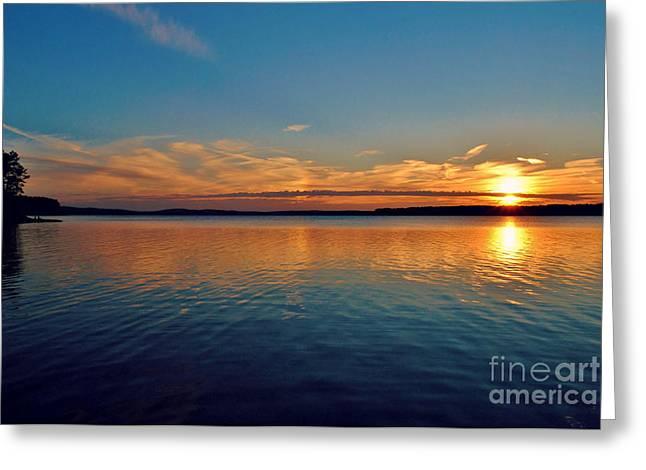 Jordan Lake Sunset 2 Greeting Card by Kelly Nowak