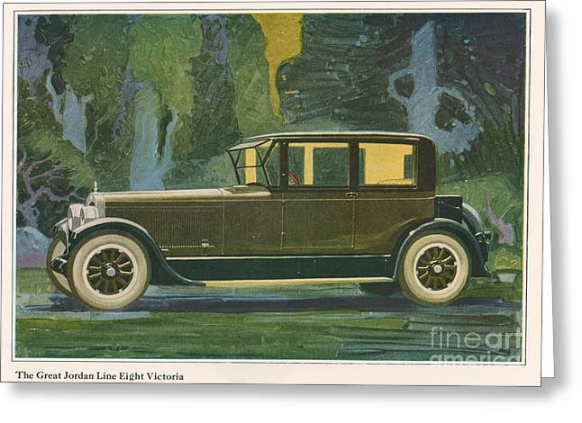 American Automobiles Greeting Cards - Jordan Line Eight Victoria Car 1925 Greeting Card by The Advertising Archives