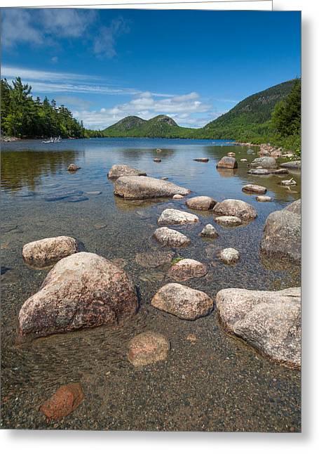 Cape Neddick Greeting Cards - Jordan Pond 2  Greeting Card by Emmanuel Panagiotakis