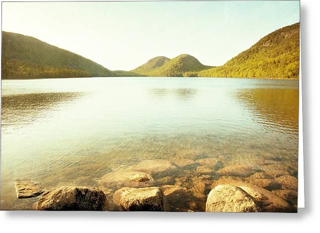 Jordan Pond Greeting Card by Carolyn Cochrane