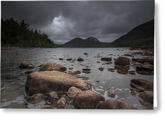 Jordan Photographs Greeting Cards - Jordan pond Greeting Card by Chris Fletcher