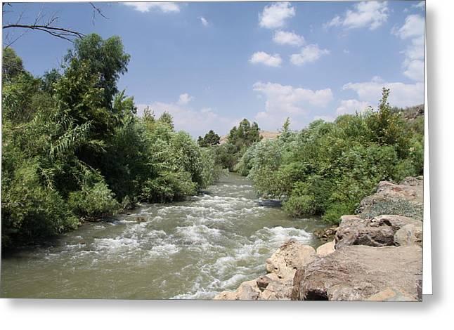 Jordan River  Greeting Card by Rita Adams