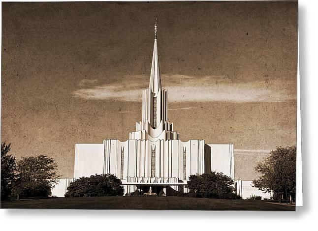 Jordan River Temple Greeting Cards - Jordan River Temple Greeting Card by David Simpson