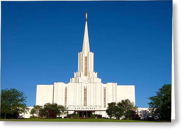 Salt Lake City Temple Photography Greeting Cards - Jordan River Temple  Greeting Card by John Wunderli