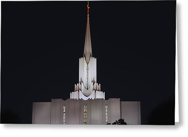 Saint Joseph Greeting Cards - Jordan River Temple - LDS  Greeting Card by Steven Milner