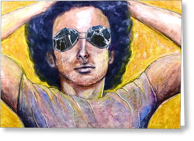 Sunglasses Pastels Greeting Cards - Jordan Greeting Card by Tai Hicks