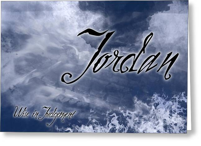 Jordan - Wise in Judgement Greeting Card by Christopher Gaston