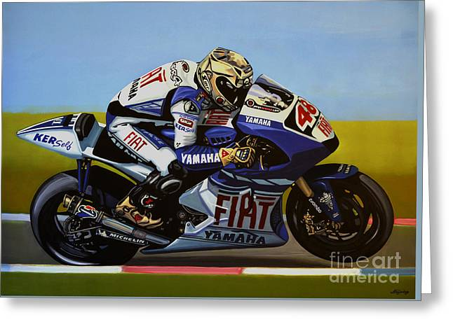 Circuit Greeting Cards - Jorge Lorenzo Greeting Card by Paul Meijering