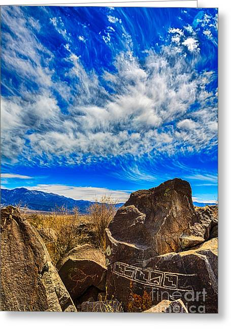 1400 Greeting Cards - Jornada Mogollon Petroglyphs Greeting Card by Scotts Scapes