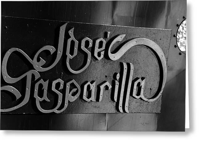 Pirate Ship Greeting Cards - Jose Gasparilla name plate Greeting Card by David Lee Thompson