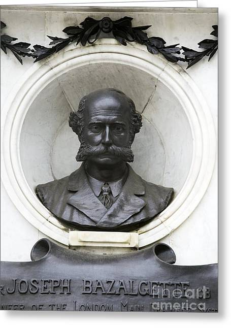 Drain Greeting Cards - Joseph Bazalgette, British Civil Greeting Card by Sheila Terry