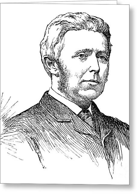 Sideburns Greeting Cards - Joseph Bell (1837-1911) Greeting Card by Granger