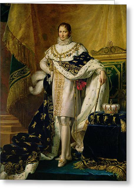 Full-length Portrait Photographs Greeting Cards - Joseph Bonaparte 1768-1844 After 1808 Oil On Canvas Greeting Card by Francois Pascal Simon, Baron Gerard