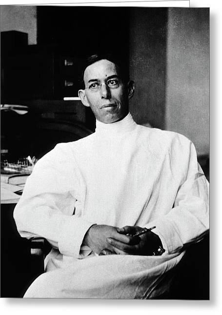 Joseph Erlanger Greeting Card by National Library Of Medicine