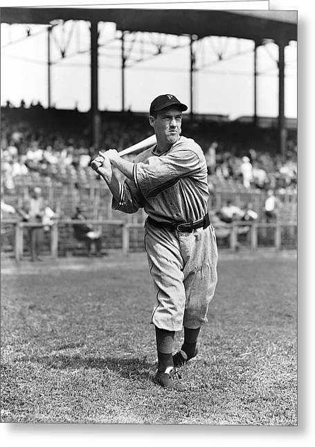 """pittsburgh Pirates"" Greeting Cards - Joseph F. Arky Vaughan Greeting Card by Retro Images Archive"