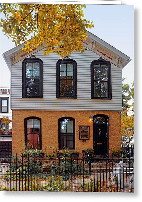 Johns Greeting Cards - Joseph J OConnell House Chicago Greeting Card by Christine Till