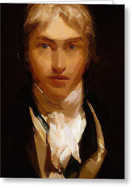 British Portraits Mixed Media Greeting Cards - Joseph Mallord William Turner Portrait Greeting Card by Celestial Images