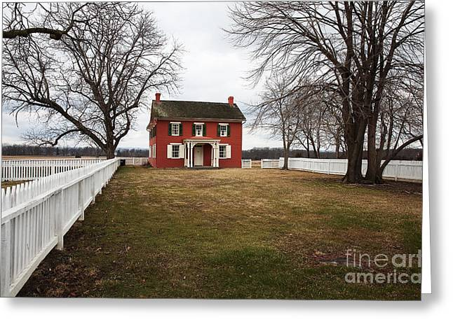 Old School House Greeting Cards - Joseph Serfy House Greeting Card by John Rizzuto
