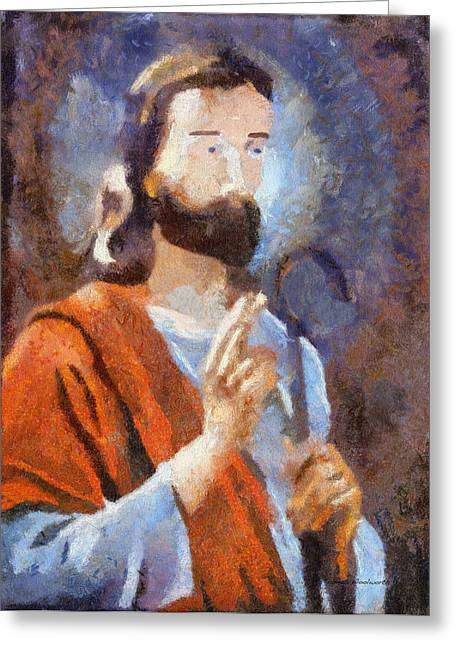 Saint Joseph Greeting Cards - Joseph Greeting Card by Thomas Woolworth