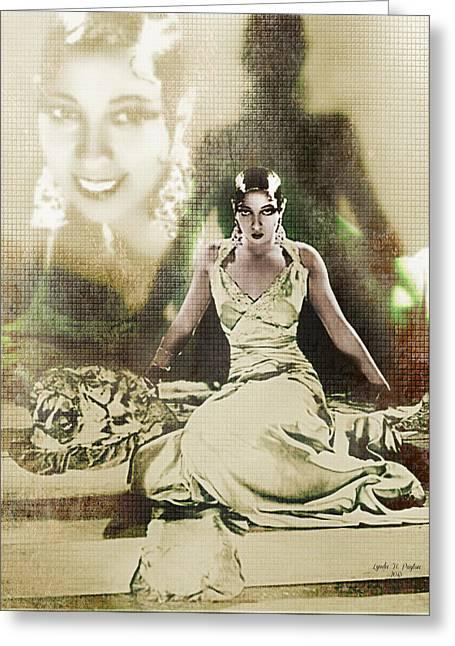 Lynda Payton Greeting Cards - Josephine Baker 2 Greeting Card by Lynda Payton
