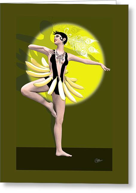In Memory Of Josephine Baker Greeting Card by Quim Abella