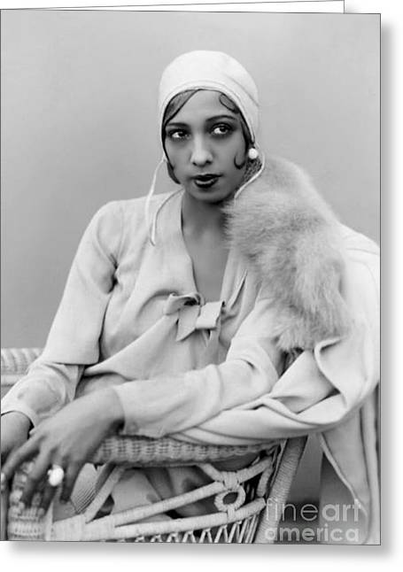 Civil Rights Activists Greeting Cards - Josephine Baker Greeting Card by Pg Reproductions