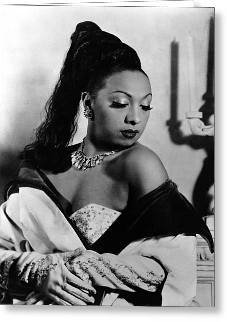 Josephine Baker Greeting Card by Silver Screen