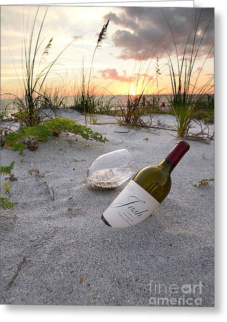 Captiva Greeting Cards - Josh Wine Greeting Card by Jon Neidert