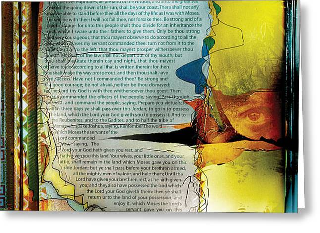 JOSHUA 1 Greeting Card by Switchvues Design