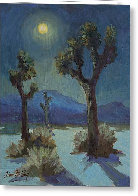 Moonlight Scene Paintings Greeting Cards - Joshua Moonlight 2 Greeting Card by Diane McClary