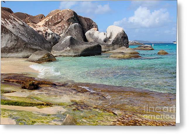 British Virgin Islands Greeting Cards - Jost Van Dyke Greeting Card by Carey Chen