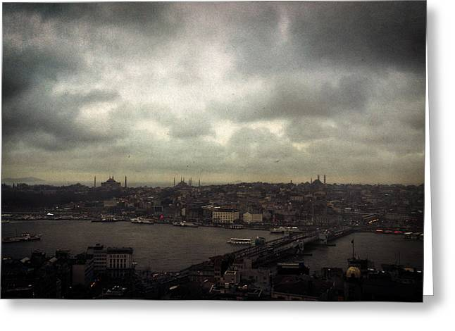 Golden Horn Greeting Cards - jour de pluie a Istanbul I Greeting Card by Taylan Soyturk