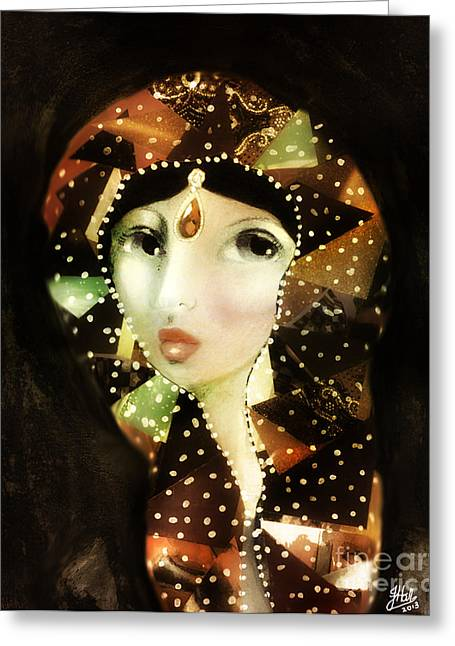 Rosy Hall Greeting Cards - Journal 1 A Modern Madonna Greeting Card by Rosy Hall