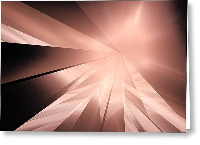 Abstract Digital Light Trails Greeting Cards - Journey  Greeting Card by Elizabeth McTaggart