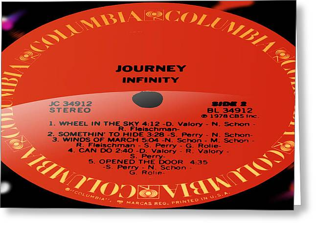 Do Something Greeting Cards - Journey - Infinity Side 2 Greeting Card by Marcello Cicchini