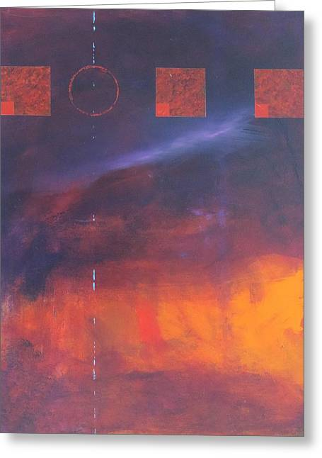Geometric Art Greeting Cards - Journey No. 4 Greeting Card by Bill Tomsa