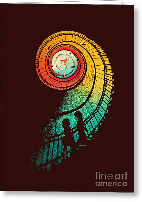 Color Digital Art Greeting Cards - Journey of a thousand miles Greeting Card by Budi Satria Kwan