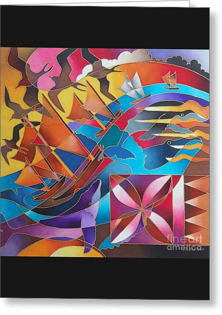 Journey Of The Vaka II Greeting Card by Maria Rova