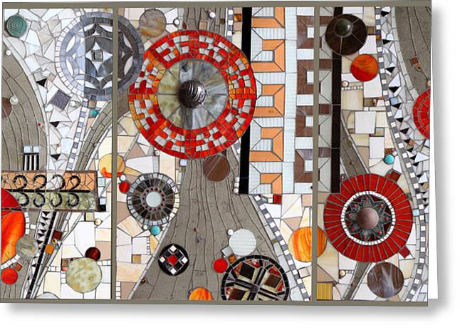 Gray Glass Greeting Cards - Journey Greeting Card by Sandra Bryant