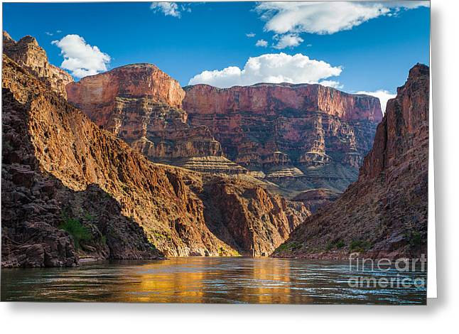Eroded Greeting Cards - Journey through the Grand Canyon Greeting Card by Inge Johnsson