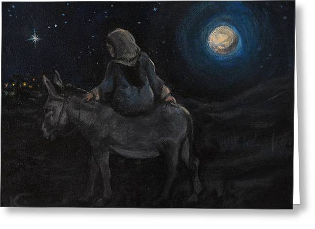 Star Of Bethlehem Greeting Cards - Journey to Bethlehem Greeting Card by Kim Marshall