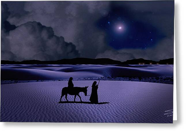 Christmas Eve Greeting Cards - Journey to Bethlehem Greeting Card by Schwartz
