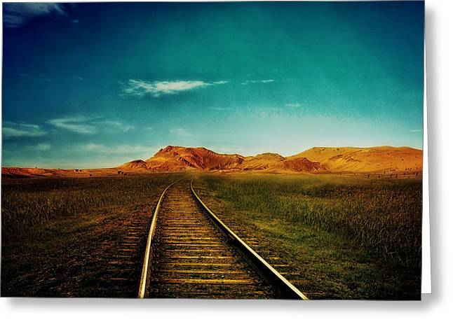 Hdr Landscape Mixed Media Greeting Cards - Journey to Nowhere  Greeting Card by Mountain Dreams