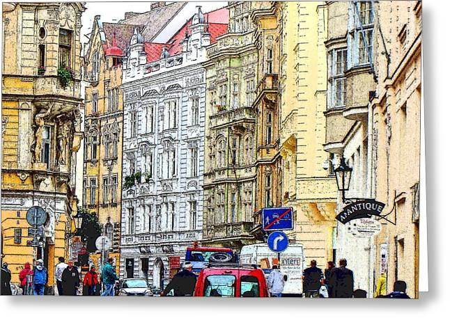 Prague Czech Republic Digital Greeting Cards - Journey To Prague Greeting Card by Ira Shander
