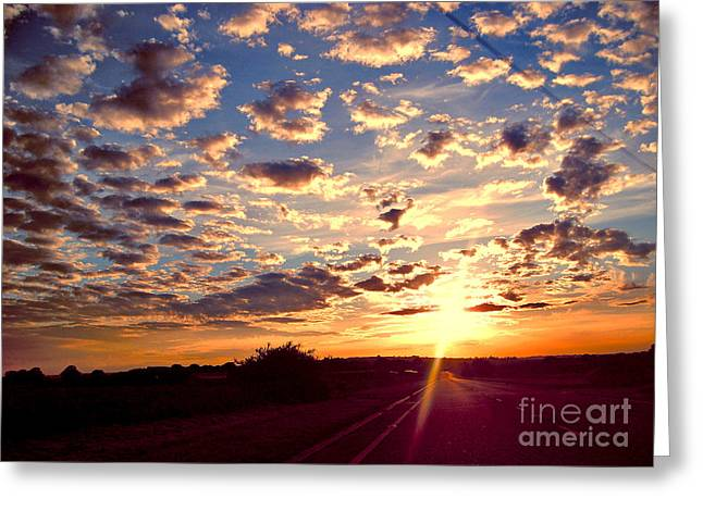 Gloaming Greeting Cards - Journey To The Sun Greeting Card by Nina Ficur Feenan