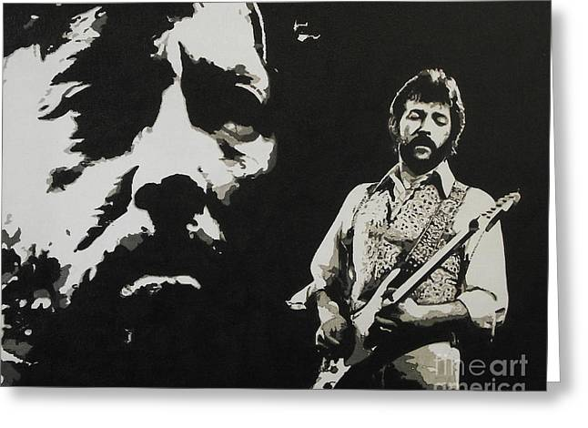 Slowhand Greeting Cards - Journeyman Greeting Card by ID Goodall