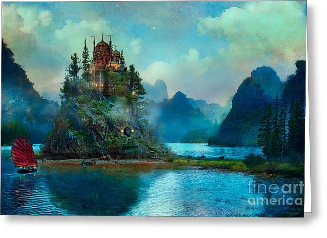 Blue Greeting Cards - Journeys End Greeting Card by Aimee Stewart