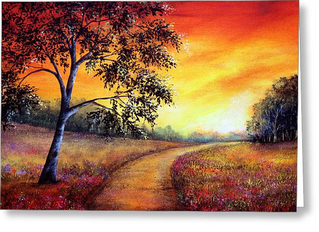 Kinkade Greeting Cards - Journeys End Greeting Card by Ann Marie Bone